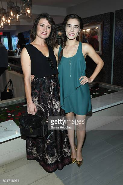Carrie Lazar and Alix Angelis attend W Magazine NKPR IT House x Producers Ball Studio at IT Lounge on September 9 2016 in Toronto Canada