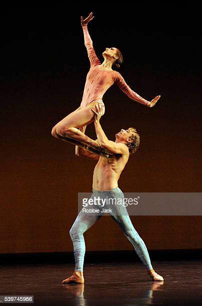 Carrie Lee Riggins and Mathew Prescott artists of Morphoses/The Wheeldon Company in Tim Harbour's Leaving Songs at Sadlers Wells in London