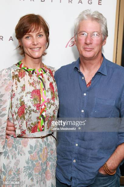 Carrie Lowell and Richard Gere attend the Arbitage screening at UA East Hampton Theater on August 12 2012 in East Hampton New York