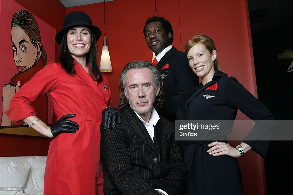 Richard Tyler and Delta Airlines Debut New Flight Attendant Uniforms With Guest Appearance by Delta CEO Jerry Grinstein : News Photo