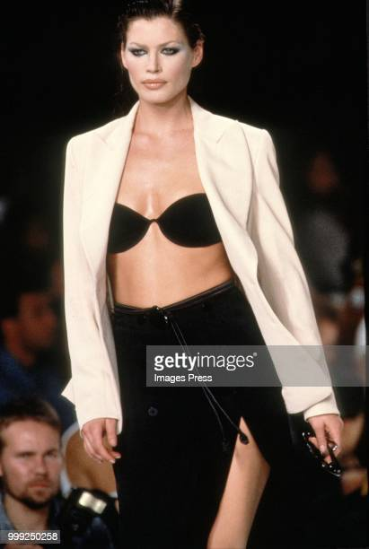 Carrie Otis models during New York Fashion Week circa 1991 in New York