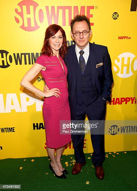 """Carrie Preston and Michael Emerson attend """"HAPPYish"""" series premiere at Sunshine Cinema on April 20, 2015 in New York City."""