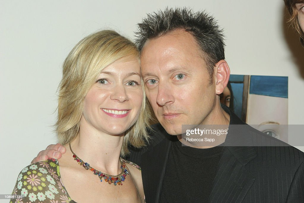 Carrie Preston and Michael Emerson during Dr. Randal Haworth Art Show at 216 N. Canyon Drive in Beverly Hills, California, United States.