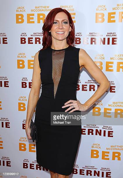 Carrie Preston arrives at the Bernie premiere during the 2011 Los Angeles Film Festival held at Regal Cinemas LA Live on June 16 2011 in Los Angeles...