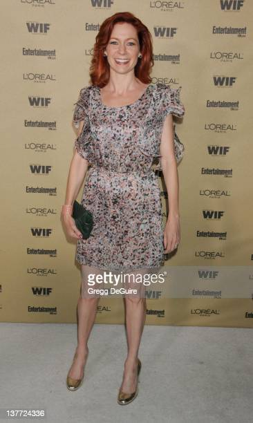 """Carrie Preston arrives at the Entertainment Weekly and Women In Film Pre-Emmy Party at the """"Restaurant"""" at the Sunset Marquis Hotel on August 27,..."""