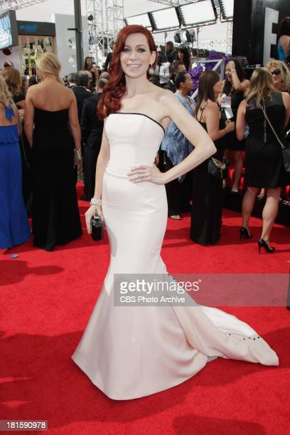 Carrie Preston from The Good Wife on the red carpet for the 65th Primetime Emmy Awards which will be broadcast live across the country 8001100 PM...