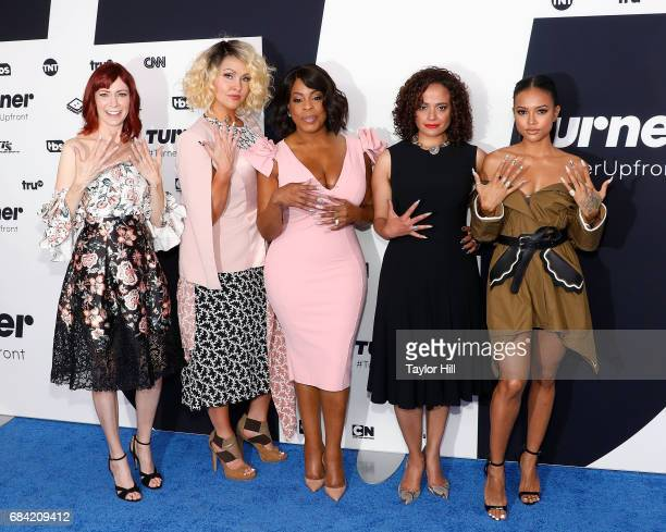 Carrie Preston Jenn Lyon Niecy Nash Judy Reyes and Karrueche Tran attend the Turner Upfront 2017 arrivals on the red carpet at The Theater at Madison...
