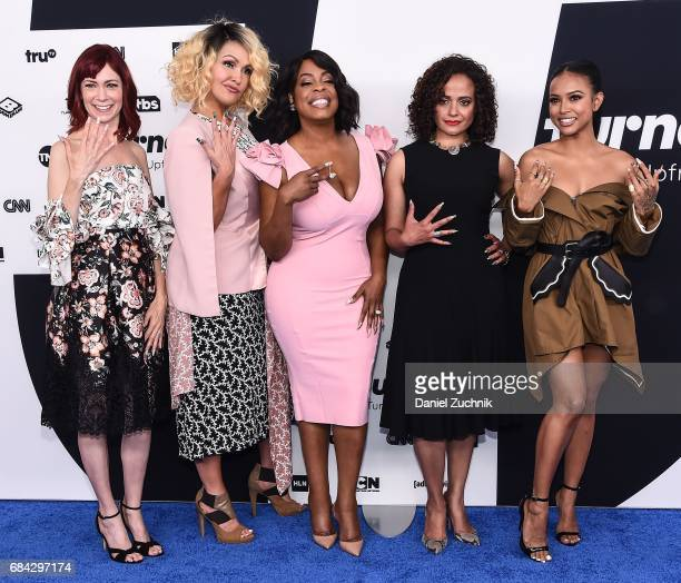 Carrie Preston Jenn Lyon Niecy Nash Judy Reyes and Karrueche Tran attend the 2017 Turner Upfront at Madison Square Garden on May 17 2017 in New York...