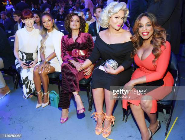 Carrie Preston Karrueche Tran Judy Reyes Jenn Lyon and Niecy Nash of TNT's Claws attendthe WarnerMedia Upfront 2019 show at The Theater at Madison...
