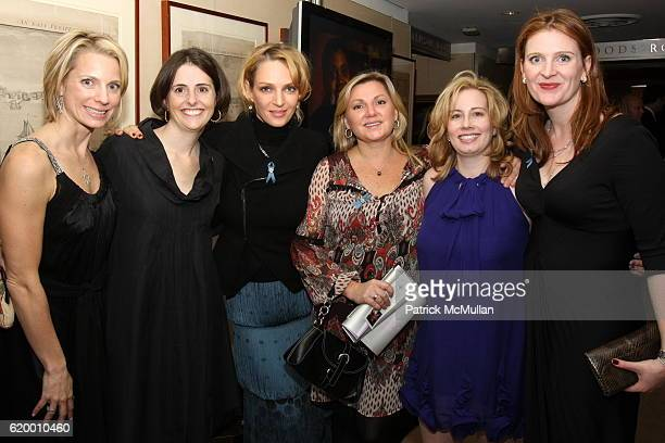 Carrie Shumway Lexy Mayers Uma Thurman Jackie Eastwick Melina Spadone Palmer and Mary Cannon attend ROOM TO GROW 10th Anniversary Benefit Gala at...