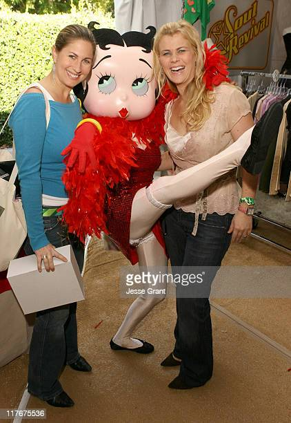 Carrie Simons Betty Boop and Alison Sweeney during Silver Spoon Golden Globes Hollywood Buffet Day 2 at Private Residence in Beverly Hills California...