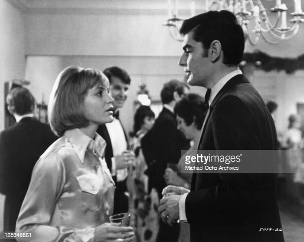 Carrie Snodgress and Richard Benjamin once happily married clash at a cocktail party in a scene from the film 'Diary Of A Mad Housewife' 1970