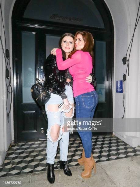 Carrie Stevens and Olivia Jade are seen on April 12 2019 in Los Angeles California
