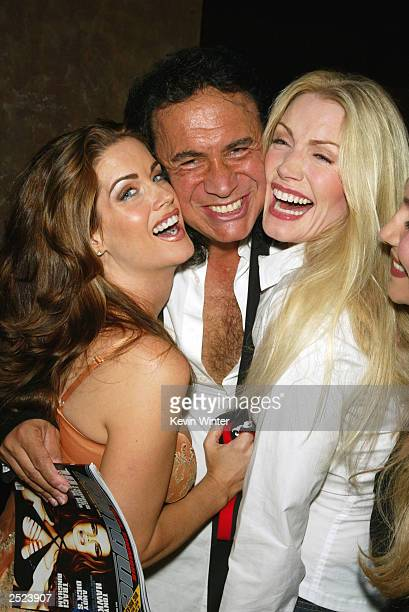 Carrie Stevens Gene Simmons and Shannon Tweed at Barfly to celebrate the 2nd edition of Gene Simmon's Tongue Magazine in West Hollywood Ca Friday...