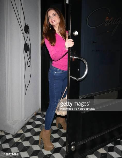 Carrie Stevens is seen on April 12 2019 in Los Angeles California