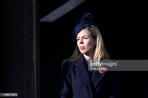Carrie Symonds attends the annual Remembrance Sunday memorial at The Cenotaph on November 10 2019 in London England The armistice ending the First...