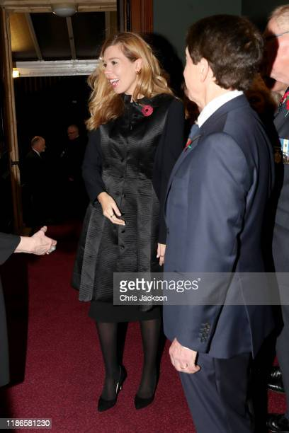 Carrie Symonds attends the annual Royal British Legion Festival of Remembrance at the Royal Albert Hall on November 09 2019 in London England