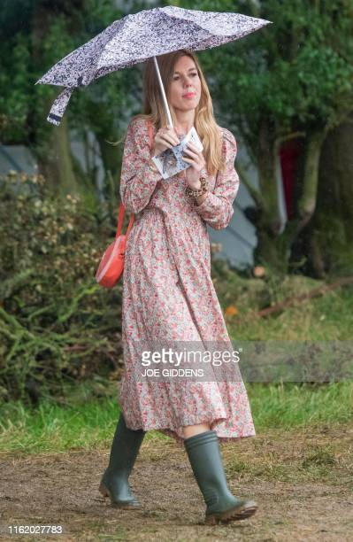 Carrie Symonds girlfriend of Britain's Prime Minister Boris Johnson attends Birdfair an environmental awareness conference at the Rutland Water...