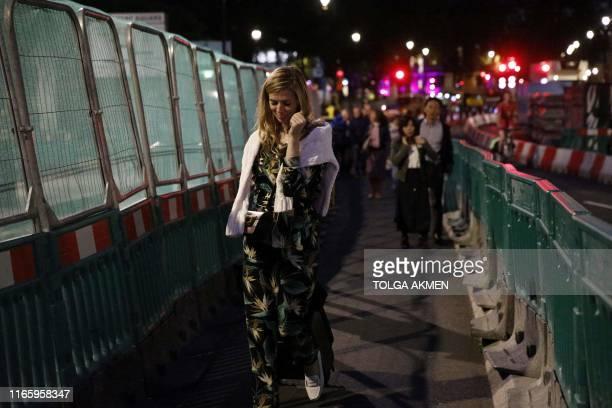 Carrie Symonds girlfriend of Britain's Prime Minister Boris Johnson walks near the Houses of Parliament in London on September 4 2019 British Prime...
