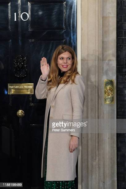 Carrie Symonds partner of Prime Minister Boris Johnson enters No 10 Downing Street as the Conservatives celebrate a sweeping election victory on...