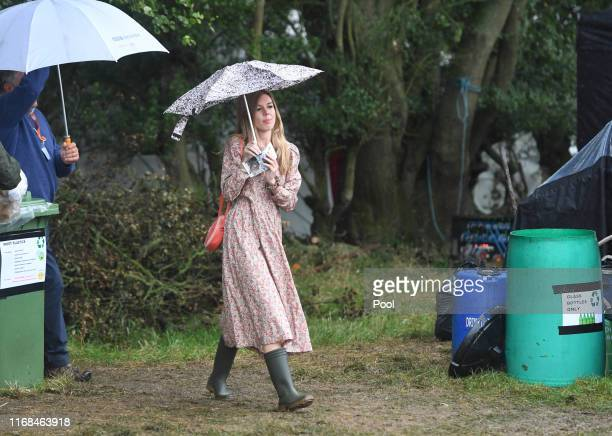 Carrie Symonds the partner of Prime Minister Boris Johnson attends Birdfair an environmental awareness conference at the Rutland Water Nature Reserve...