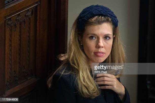 Carrie Symonds the partner of Prime Minister Boris Johnson attends the State Opening of Parliament by Queen Elizabeth II in the House of Lords at the...