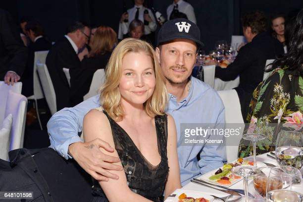 Carrie Tivador and Michael Sherman attend 2017 REDCAT Gala Honoring Janet Dreisen Rappaport and John Baldessari on March 4 2017 in Los Angeles...
