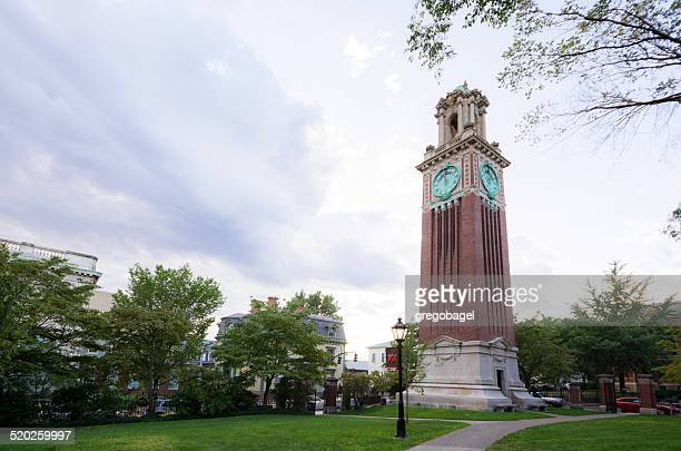 carrie tower on brown university campus in providence, rhode island - brown university stock pictures, royalty-free photos & images