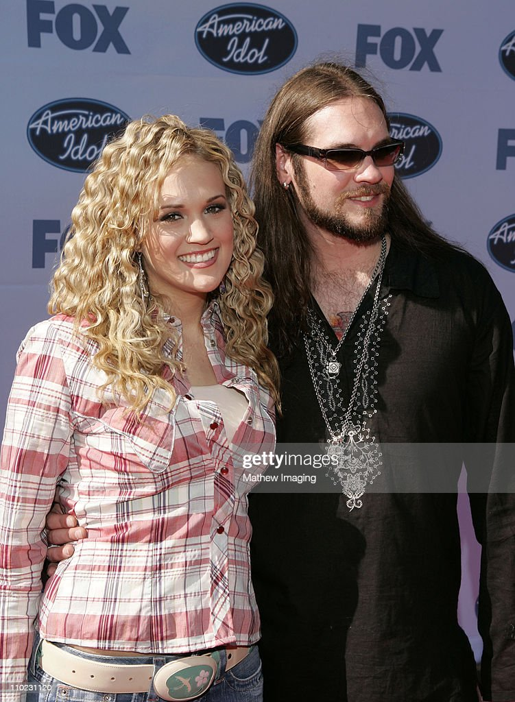 Carrie Underwood and Bo Bice during 'American Idol' Season 4 - Finale - Arrivals at The Kodak Theatre in Hollywood, California, United States.