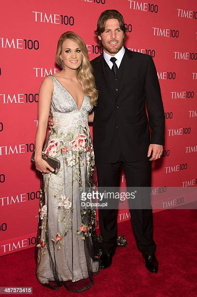 Carrie Underwood and husband Mike Fisher attend the 2014 Time 100 Gala at Frederick P Rose Hall Jazz at Lincoln Center on April 29 2014 in New York...