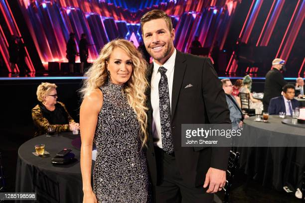 Carrie Underwood and Mike Fisher attend the 54th Annual CMA Awards at Music City Center on November 11, 2020 in Nashville, Tennessee.