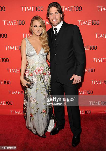 Carrie Underwood and Mike Fisher attend the TIME 100 Gala TIME's 100 most influential people in the world at Jazz at Lincoln Center on April 29 2014...