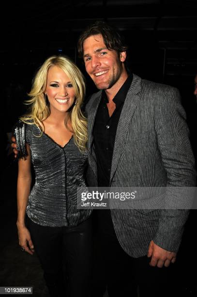 Carrie Underwood and Mike Fisher the 2010 CMT Music Awards at the Bridgestone Arena on June 9 2010 in Nashville Tennessee