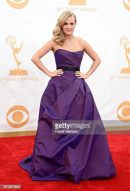 Carrie Underwood arrives at the 65th Annual Primetime Emmy Awards held at Nokia Theatre LA Live on September 22 2013 in Los Angeles California