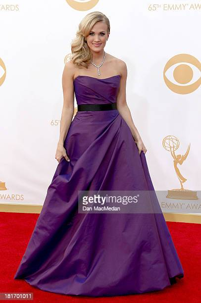 Carrie Underwood arrives at the 65th Annual Primetime Emmy Awards at Nokia Theatre L.A. Live on September 22, 2013 in Los Angeles, California.