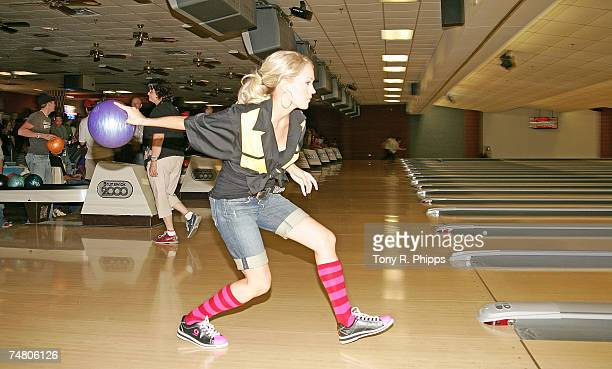 Carrie Underwood at the Hermitage Lanes in Hermitage Tennessee
