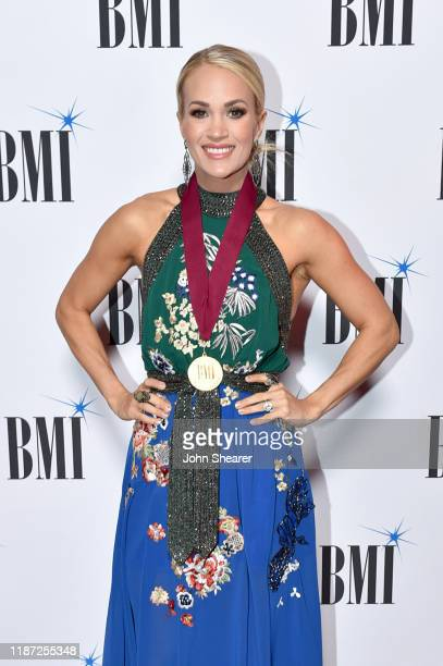 Carrie Underwood attends as BMI presents Dwight Yoakam with President's Award at 67th Annual Country Awards Dinner at BMI on November 12 2019 in...