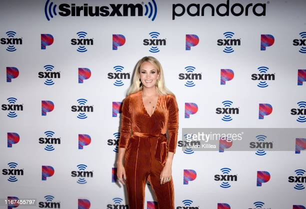 Carrie Underwood attends SiriusXM's Town Hall With Carrie Underwood Hosted By SiriusXM's Jenny McCarthy At The SiriusXM Studios on September 11 2019...