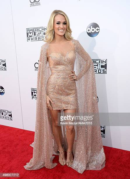Carrie Underwood attends the 2015 American Music Awards at Microsoft Theater on November 22 2015 in Los Angeles California
