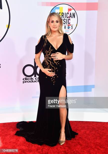 Carrie Underwood attends the 2018 American Music Awards at Microsoft Theater on October 9 2018 in Los Angeles California