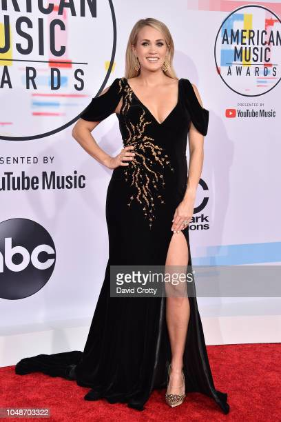 Carrie Underwood attends the 2018 American Music Awards at Microsoft Theater on October 9, 2018 in Los Angeles, California.