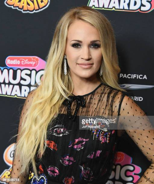 Carrie Underwood attends the 2018 Radio Disney Music Awards at Loews Hollywood Hotel on June 22 2018 in Hollywood California