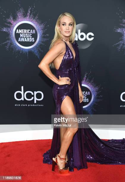 Carrie Underwood attends the 2019 American Music Awards at Microsoft Theater on November 24, 2019 in Los Angeles, California.