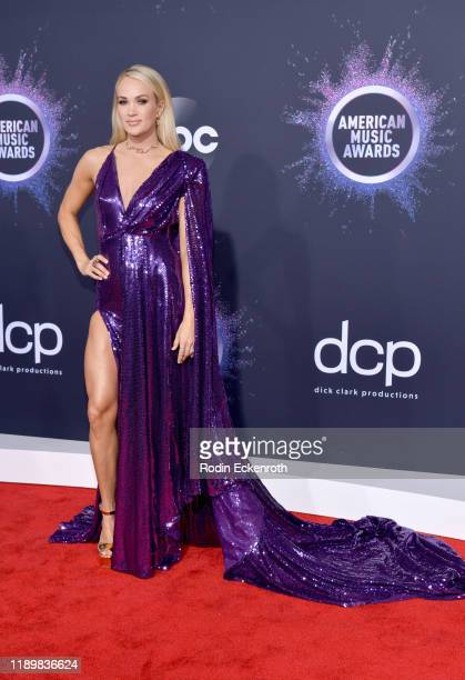 Carrie Underwood attends the 2019 American Music Awards at Microsoft Theater on November 24 2019 in Los Angeles California