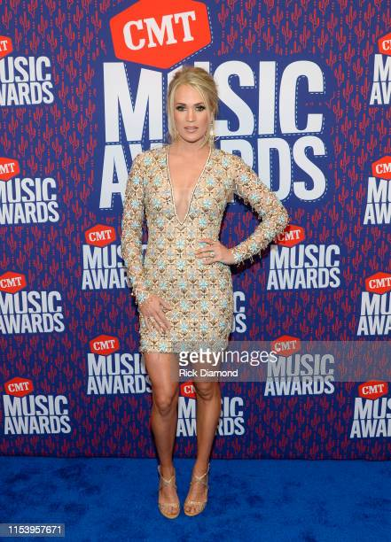 Carrie Underwood attends the 2019 CMT Music Awards at Bridgestone Arena on June 05 2019 in Nashville Tennessee