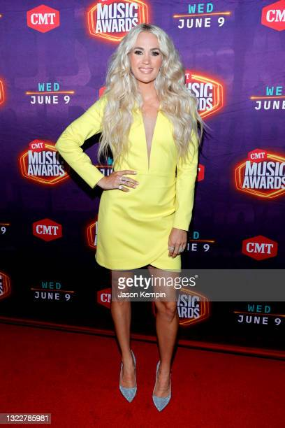 Carrie Underwood attends the 2021 CMT Music Awards at Bridgestone Arena on June 09, 2021 in Nashville, Tennessee.