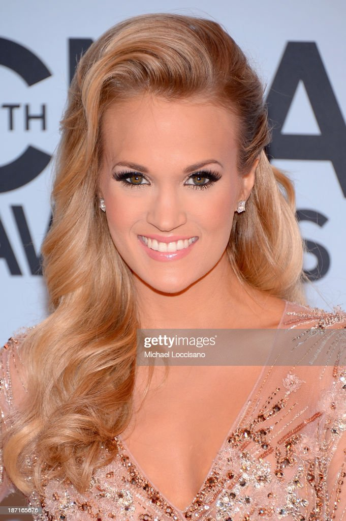 Carrie Underwood attends the 47th annual CMA Awards at the Bridgestone Arena on November 6, 2013 in Nashville, Tennessee.