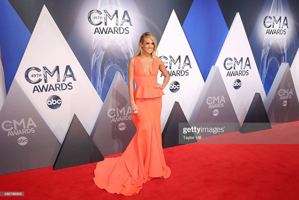 Carrie Underwood attends the 49th annual CMA Awards at the Bridgestone Arena on November 4, 2015 in Nashville, Tennessee.