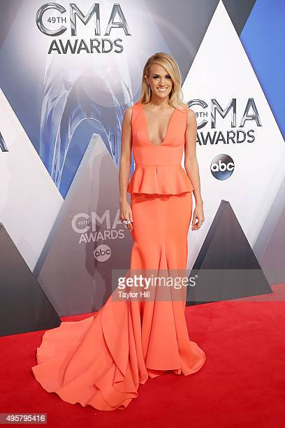 Carrie Underwood attends the 49th annual CMA Awards at the Bridgestone Arena on November 4 2015 in Nashville Tennessee
