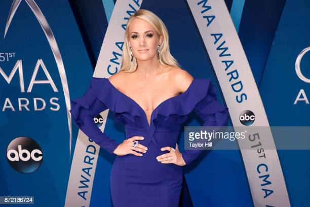 Carrie Underwood attends the 51st annual CMA Awards at the Bridgestone Arena on November 8 2017 in Nashville Tennessee